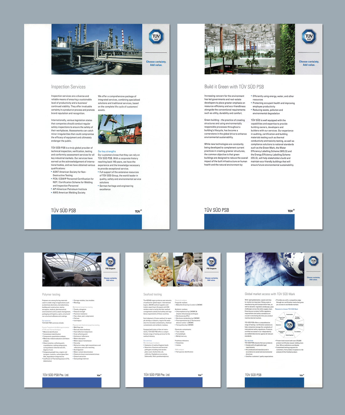 Corporate Brochure Design, Ease Communications